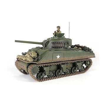 Radiostyrd Stridsvagn Forces of Valor 1:24 RC Scale US Sherman M4A3 Tank